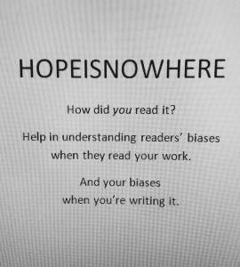 HOPEISNOWHERE